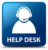 Help desk (customer care icon) blue square button Stock Images