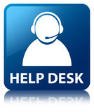 Help desk (customer care icon) blue square button Royalty Free Stock Photos