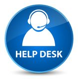 Help desk (customer care icon) elegant blue round button Royalty Free Stock Photo