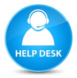 Help desk (customer care icon) elegant cyan blue round button Stock Images