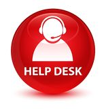 Help desk (customer care icon) glassy red round button Royalty Free Stock Photography