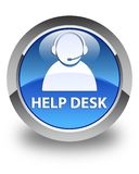 Help desk (customer care icon) glossy blue round button Royalty Free Stock Photo