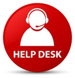 Help desk (customer care icon) red round button Royalty Free Stock Photos