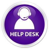 Help desk (customer care icon) premium purple round button Royalty Free Stock Photography