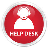 Help desk (customer care icon) premium red round button Royalty Free Stock Photo