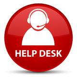 Help desk (customer care icon) special red round button Royalty Free Stock Photos