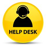 Help desk (customer care icon) special yellow round button Royalty Free Stock Image