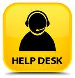 Help desk (customer care icon) special yellow square button Stock Photo