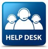 Help desk (customer care team icon) blue square button Stock Image