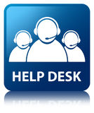 Help desk (customer care team icon) blue square button Royalty Free Stock Images