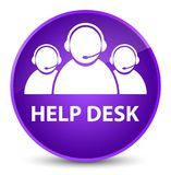 Help desk (customer care team icon) elegant purple round button Royalty Free Stock Images