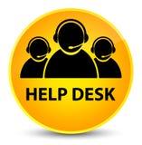 Help desk (customer care team icon) elegant yellow round button Royalty Free Stock Image