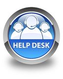 Help desk (customer care team icon) glossy blue round button Royalty Free Stock Image