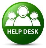 Help desk (customer care team icon) green round button. Help desk (customer care team icon) isolated on green round button abstract illustration Royalty Free Stock Photo
