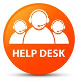 Help desk (customer care team icon) orange round button Royalty Free Stock Photos