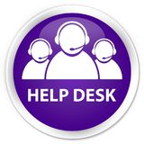 Help desk (customer care team icon) premium purple round button. Help desk (customer care team icon) isolated on premium purple round button abstract Royalty Free Stock Images