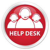 Help desk (customer care team icon) premium red round button Royalty Free Stock Photo