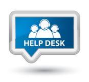 Help desk (customer care team icon) prime blue banner button Royalty Free Stock Photos