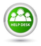 Help desk (customer care team icon) prime green round button. Help desk (customer care team icon) isolated on prime green round button abstract illustration Royalty Free Stock Image