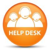 Help desk (customer care team icon) special orange round button Royalty Free Stock Photos