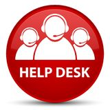 Help desk (customer care team icon) special red round button Stock Image