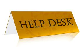 Help desk gold illustration Stock Image