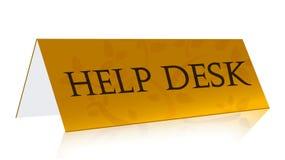 Help desk gold illustration. Design Stock Image