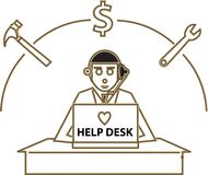 Help Desk Royalty Free Stock Photo