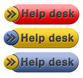 Help desk icon. Help desk or online support call center button or icon royalty free illustration