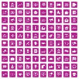 100 help desk icons set grunge pink. 100 help desk icons set in grunge style pink color isolated on white background vector illustration Stock Photo
