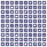100 help desk icons set grunge sapphire. 100 help desk icons set in grunge style sapphire color isolated on white background vector illustration Stock Photo