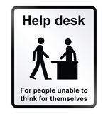 Help Desk Information Sign Stock Image