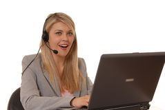 Help Desk Lady Royalty Free Stock Photos