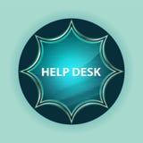 Help Desk magical glassy sunburst blue button sky blue background royalty free illustration
