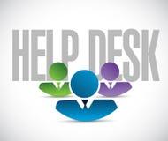 Help desk team sign illustration design graphic. Over white Stock Image
