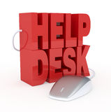 Help desk. The text: help desk, with a computer mouse, concept of online assistance (3d render Stock Photo