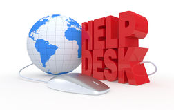 Help desk. The text: help desk, with a computer mouse, concept of online assistance (3d render Royalty Free Stock Photography