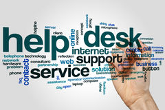 Help desk word cloud Royalty Free Stock Image