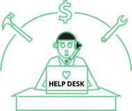 Help Desk Stock Images