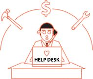 Help Desk Royalty Free Stock Images