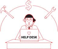 Help Desk Stock Photos