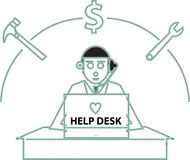 Help Desk Royalty Free Stock Photography