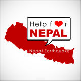 Help and Donation for NEPAL Earthquaked 2015 Royalty Free Stock Photography