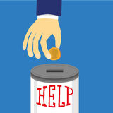 Help Donation Tin Stock Photography
