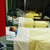 Help. Dummies in hospital beds Royalty Free Stock Photography