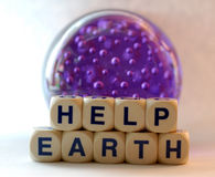 Help earth. Help the sick earth Royalty Free Stock Photo