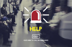 Help Emergency Accident Aid Concept Stock Photo