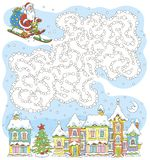 Printable board game with Santa Claus royalty free illustration