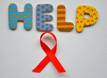 Help fight against Aids. Conceptual image on white background Stock Images
