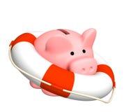 Help at financial crisis royalty free illustration